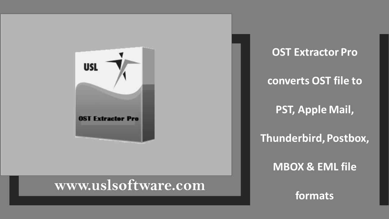 OST to PST Converter, that works with Mac & Windows