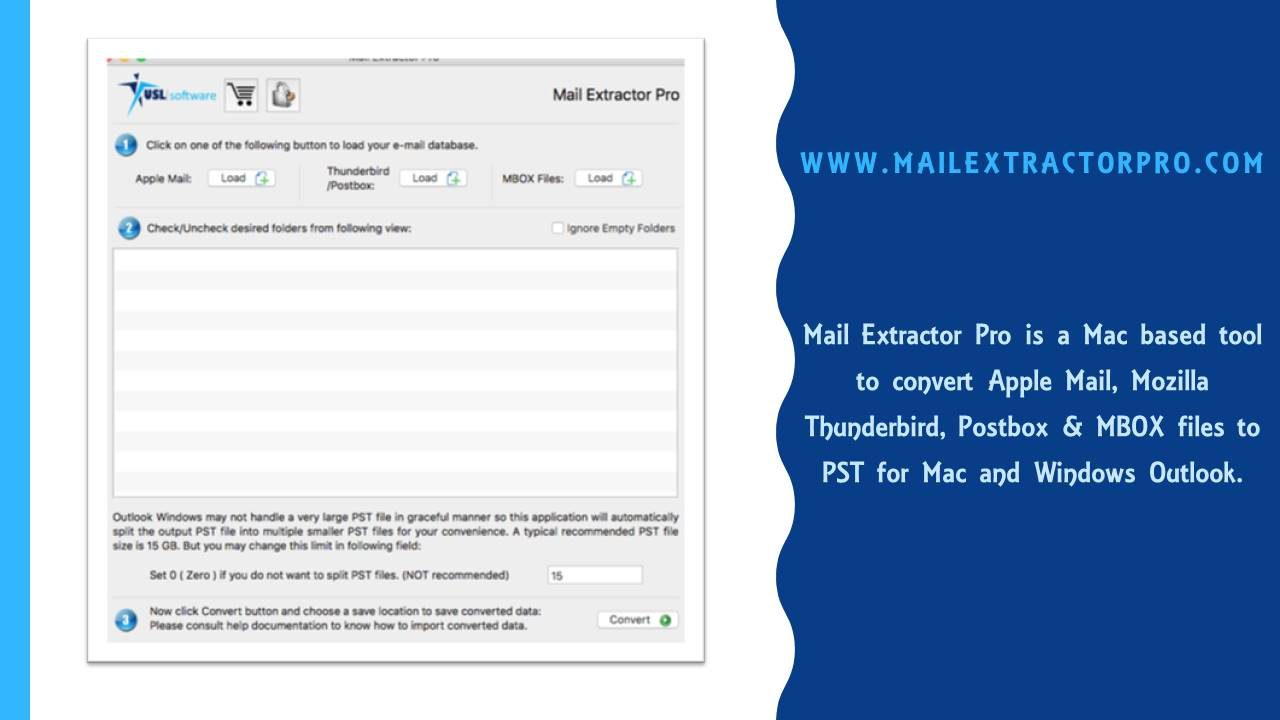 Export Mozilla Thunderbird to Outlook (PST) for Mac/Windows